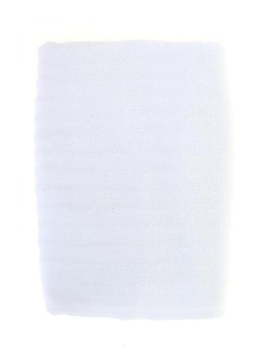 Boyner Evde Boyner Evde Şerit Rölyefli 75X150 cm Beyaz Duş Havlusu Beyaz